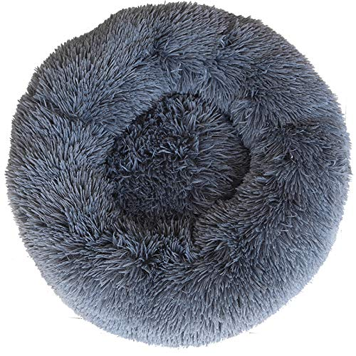 Dog Bed Cat Bed Cat Nest Pets Warm Round Bed Warm Pets Round Soft Plush Cushion for Small Pets 3kg (40CM)