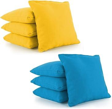 Amazon Com Tailor Spot Cornhole Bean Bags Set Of 8 Standard Aca Aco Regulation Size Corn Filled 25 Colors Yellow Turquoise Sports Outdoors