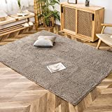Clearance Items Ultra Fluffy Shag Chenille Area Rugs for Living Room Bedroom, TPR Anti-Slip Underlay, Large Rugs for Living Room 8x10 Clearance, Machine Washable, 7.5 ft x 5.3 ft
