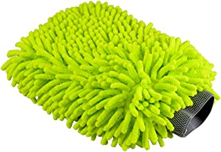 Chemical Guys MIC_493 Chenille Microfiber Premium Scratch-Free Wash Mitt, Lime Green