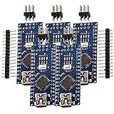 AZDelivery 5 X Nano V3.0 avec Atmega328 CH340 incluant un eBook ! 100% Arduino...