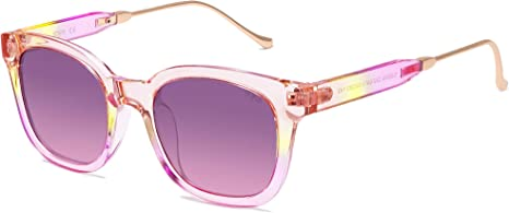 transparent pink yellow sunglasses unique timeless sale budget-friendly
