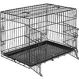 tectake Cage de Transport pour Chien-Box grillagé | 2 Grandes...