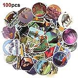 HOWAF Voyage Vinyles Graffiti Autocollant Stickers Pack Lot de 100 pour...