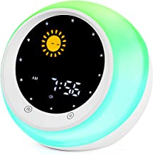 Sun & Moon Rise Kids Alarm Clock, Children's Sleep Trainer,Sleep Sound Machine,..