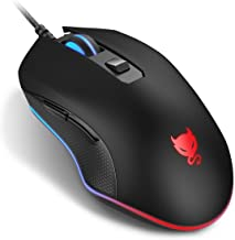 Redimp Wired Mouse LED Backlit Gaming Mouse with Side Buttons Computer Mice USB Mouse for..