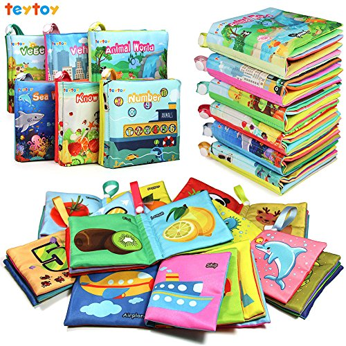 teytoy My First Soft Book, Nontoxic Fabric Baby Cloth Books...