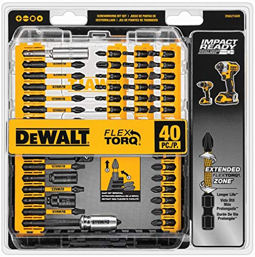 DEWALT Screwdriver Bit Set, Impact Ready, FlexTorq, 40-Piece...