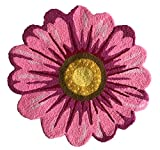 MeMoreCool Handmade Sunflower Area Rugs Bedroom/Living Room/Bathroom/Kitchen Home Decor Carpet Washable Non-Slip Mat Indoor and Outdoor Welcome Rug Pink 26 x 26 Inches