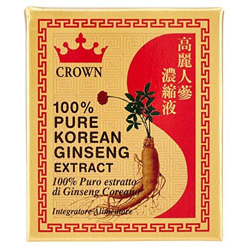 Crown - Ginseng Estratto Puro 100% - Estratto di Radice di Ginseng Coreana - 20 gr