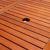Deuba Gartentisch Esstisch Alabama Klappbar Akazien Holz 160x85cm Holztisch Garten Tisch Gartenmöbel - 5