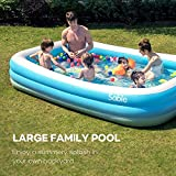 Sable Inflatable Pool, Blow Up Family Pool for Kids, Toddlers & Adult, 118' X 72' X 20', Swim Center for Ages 3+, Blue