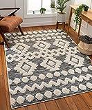 Well Woven Bellagio Chiara Tribal Moroccan Grey High-Low Flat-Weave 7'10' x 10'6' Area Rug