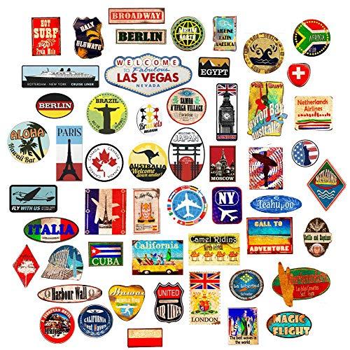 Bagage Autocollants valises étiquettes de Voyage Vintage rétro Vintage...