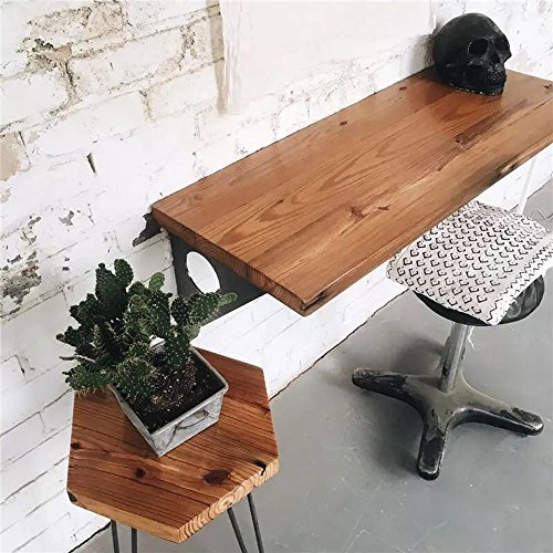 Industrial Rustic Wall-Mounted Table, Dining Table Desk, Pine Wood...