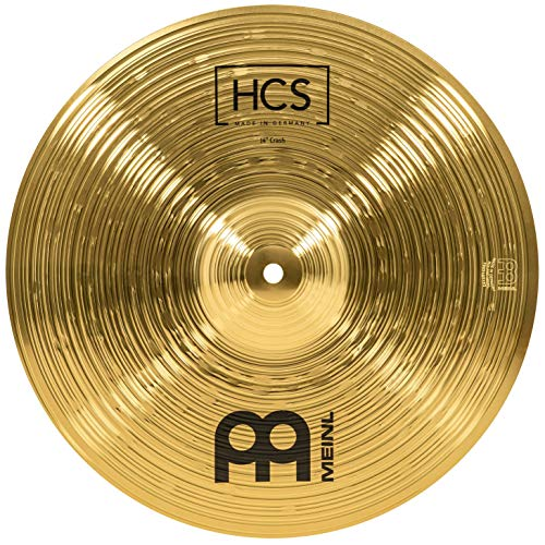 Meinl Cymbals HCS14C 14' HCS Brass Crash Cymbal for Drum Set (VIDEO)
