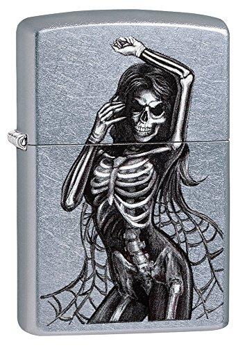 Zippo Mechero con Unisex Sexy Esqueleto, Calle Chrome, un tamaño