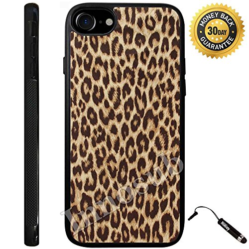 Custom iPhone 7 Case (Cheetah Print) Edge-to-Edge Rubber Black Cover with Shock and Scratch Protection | Lightweight, Ultra-Slim | Includes Stylus Pen by Innosub