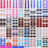 520 Pieces Full Wraps Nail Polish Stickers Self-Adhesive Nail Art Stickers Decals Nail Polish Strips with Nail Files for Women Girls DIY Nail Art Decoration (Various Style)