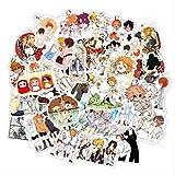 LANYU Anime The Promised Neverland Pegatinas para portátil Motocicleta monopatín Ordenador teléfono móvil Juguete de Dibujos Animados 50 Uds