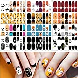 TailaiMei 12 Sheets Halloween Nail Wraps Stickers Nail Polish Strips Self-Adhesive Full Wraps with 2 pcs Nail Files for DIY Nail Art Decals (Ghost Style)