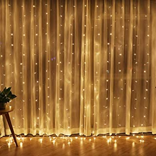 Twinkle Star 300 LED Window Curtain String Light for Christmas Wedding Party Home Garden..
