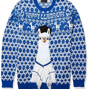 Blizzard Bay Men's Ugly Christmas Sweater Trees-Hanukkah