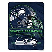 "Measures 60-inches by 80-inches 100% polyester NFL Seattle Seahawks Prestige Plush Raschel Blanket, 60"" x 80"", Blue Made in China These Authentic throws make you feel like you're apart of the team while you're watching from the comfort of your home"