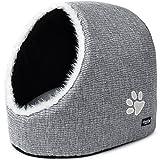 PetPäl Cueva para Animales   para Gatos y Perros pequeños   Casa de Gato Cama Cueva para Perros Mascotas   Suave Cueva con Cojín Extraíble