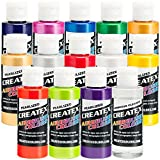 Createx 14 Pearlized/Pearl Airbrush Paint Colors Set (Оnе Расk)