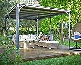 Palram Milano 4300 Tonnelle de Jardin Toit Plat – Structure Aluminium et...