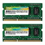 シリコンパワー ノートPC用メモリ 1.35V (低電圧) DDR3L 1600 PC3L-12800 4GB×2枚 204Pin Mac 対応 SP008GLSTU160N22