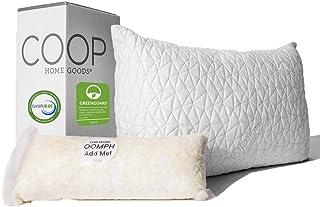 Coop Home Goods – Premium Adjustable Loft Pillow – Hypoallergenic Cross-Cut..