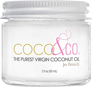 COCO & CO. Organic Pure Extra Virgin Coconut Oil for Hair & Skin, Beauty Grade..