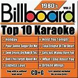 Billboard Top-10 Karaoke - 1980's Vol. 2 (10+10-song CD+G)