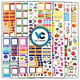 Essential Planner Stickers. 632 Productivity, Seasonal and Decorative Stickers for Planners, Bullet Journals and Calendars - Gorgeous Planner Accessories by Vladi Creative
