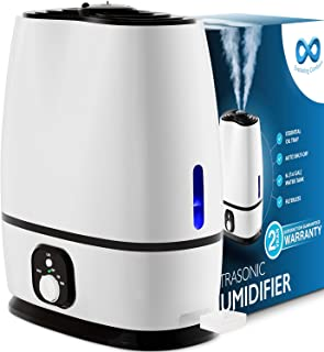 Everlasting Comfort Humidifiers for Bedroom (6L) – Humidifier with Essential Oil Tray (White)