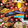 [LATEST 2020] Meat Food Thermometer for Grill and Cooking, 2S Best Ultra Fast Instant Read Waterproof Digital Kitchen Thermometer Probe for Grilling, BBQ, Baking, Candy, Liquids, oil (Black) #4