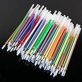 100 Pack Gel Pen Refills Glitter Metallic Pastel Fluorescence Neon Pen Ink Refills for Adult Coloring Books, Scrapbooking, Drawing