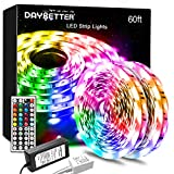 Daybetter Led Lights Color Changing Led Strip Lights with Remote Controller-60ft
