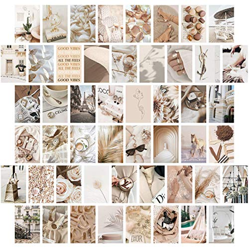 Neutral Wall Collage Kit Aesthetic Pictures, Aesthetic Room...