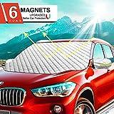 Ezlife Couverture Pare-Brise Voiture, Bache Pare Brise Protection Magnétique Couverture Repliable,...