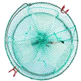 Drasry Collapsible Fishing Trap for Crab Bait Lobster Crawfish Shrimp Fish Net Portable Accessories 11.8in x 5.9in (30cm x 15cm) 0.28 Inch Mesh (1PCS)