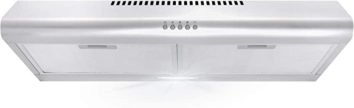 Cosmo 5MU30 30 in. Under Cabinet Range Hood with Ducted / Ductless Convertible Duct, Slim..