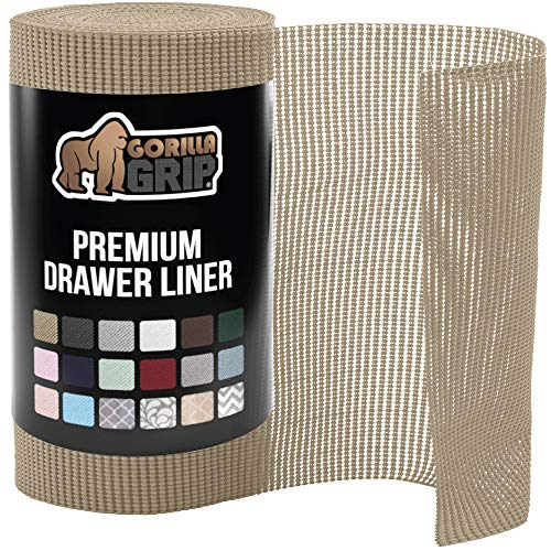 Gorilla Grip Original Drawer and Shelf Liner, Non Adhesive Roll,...