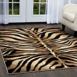 Home Dynamix Tribeca Fawn Area Rug 7'10'x10'6', Animals Black/Ivory