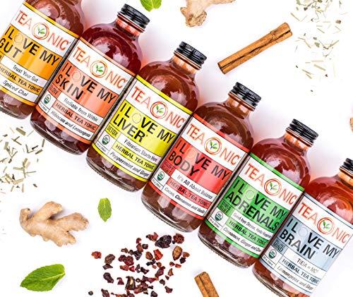 TEAONIC I LOVE MY LIVER - Herbal Tea Tonic - Detox Tea - Ginger Root - Hibiscus Tea - Dandelion Root Tea - Decaf tea - Rooibos Tea Organic - Milk Thistle Tea - 8 fl oz. Each - 12 Pack 3 - My Weight Loss Today