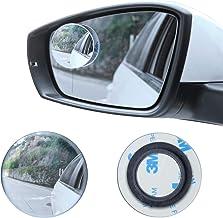 "LivTee Blind Spot Mirror, 2"" Round HD Glass Frameless Convex Rear View Mirror with.."