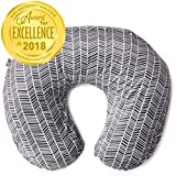Minky Nursing Pillow Cover   Herringbone Pattern Slipcover   Best for Breastfeeding Moms   Soft Fabric Fits Snug On Infant Nursing Pillows to Aid Mothers While Breast Feeding   Great Baby Shower Gift