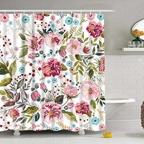 Modern timesm Bathroom Shower Curtain Colorful Flower Shower Curtains...